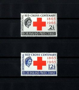 BECHUANALAND  - 1963 - QE II - RED CROSS CENTENARY - MINT - MNH - SET!