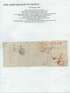FRANCE Early Incoming LETTER/COVER 1836 fine used item Anvers - Paris
