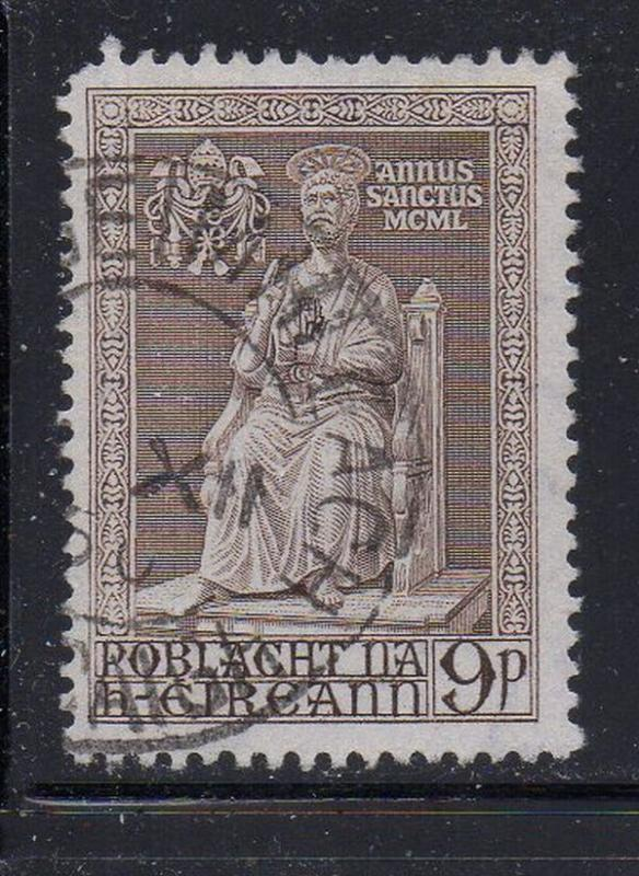 Ireland Sc 144 1950 9d brown Holy Year stamp used