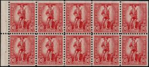 #S1a 1954 10c SAVINGS STAMP BOOKLET PANE ISSUE--MINT-OG/NH--VF/XF
