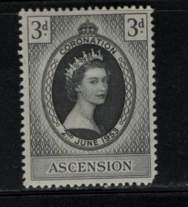 ASCENSION 61 Hinged, 1953 Coronation Issue
