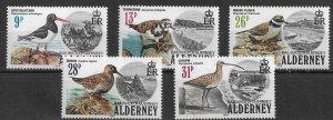 1984 - Alderney mint mnh  Set Birds  Yt 13 - 17