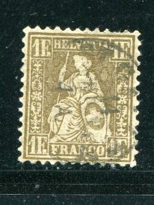 Switzerland #50a Used F-VF