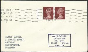 GB SCOTLAND 1969 Cover Clyde Steamer cachet M.V.LOCHIEL....................48213