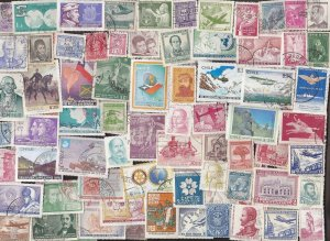 300 All Different CHILE STAMPS