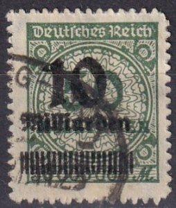 Germany #321 F-VF Used CV $37.50 (Z5284)