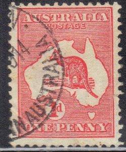 AUSTRALIA SCOTT #2 (DIE II) 1913  KANGAROO SEE SCAN