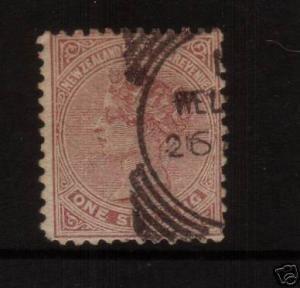 NEW ZEALAND 1882 SSF 1/-  FU PERF 12 X 11 1/2 SG193
