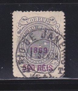Brazil 154a U Surcharge