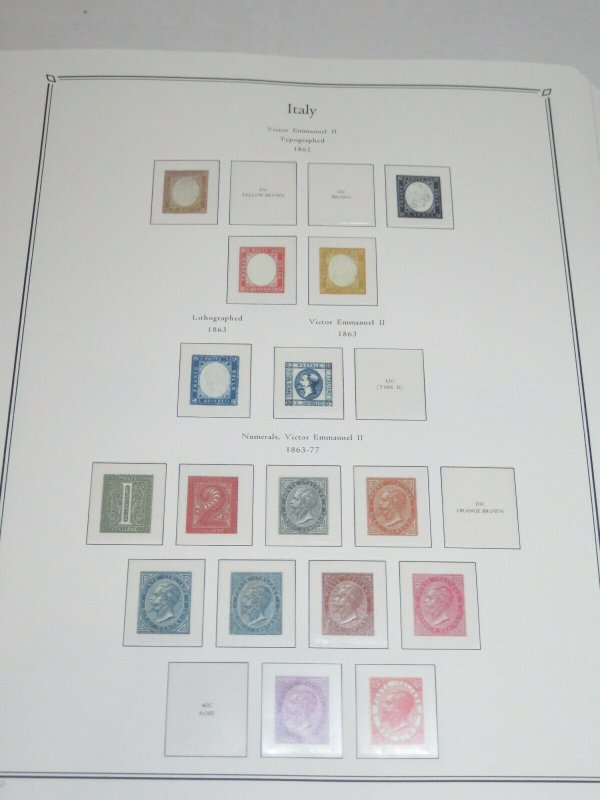 4 Italy Palo Premium Albums with Hingeless Color Pages 1862-2013 Retail $1500+