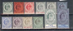 Gibraltar, 49/60, King Edward VII Singles, **Hinged**