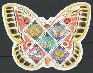 Botswana 2000 Butterflies and Moths MNH sheet