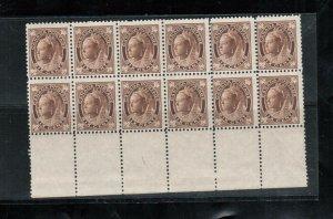 Canada #71 Mint Fine Block Of Twelve Never Hinged