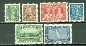 CANADA 1935 GEO V JUBILEE #211-216...SET MNH...$40.00