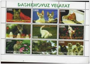 TURKMENISTAN SHEET CATS