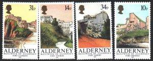 Alderney. 1986. 28-31. Castle, fortress, tourism. MNH.