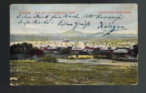 1906 Windhoek View German Southwest Africa Postcard Cover Schutztruppe Cancel