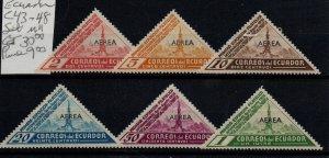 Ecuador C43-48 Mint Hinged