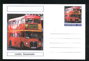 London Routemaster postcard 25   m    Mint  PD