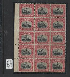NORTH BORNEO PP0105B)  2C/3C TRAIN SG 186 BL OF 15  MNH