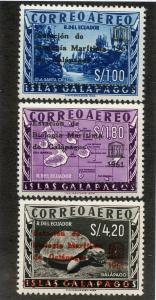 ECUADOR C389-C391 MH SCV $8.00 BIN $3.25 GEOGRAPHY UNESCO