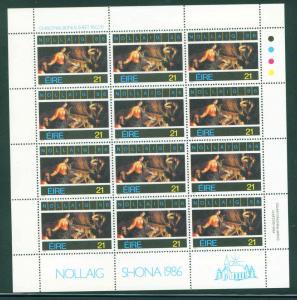 IRELAND EIRE Scott 677 Christmass Nollaig 86 sheet CV$12