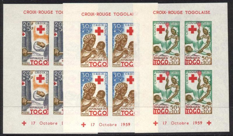 Togo B12a-4a imperf MNH Red Cross, Medicine