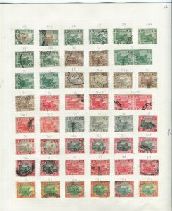 MALAYA; 1904 early Tiger issues Duplicated USED LOT various Shades etc