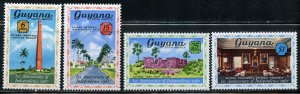 Guyana MH 28-31 1st Anniversary Of Independence 1967