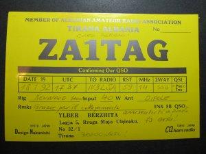 5589 Amateur Radio QSL Card Tirana Albania