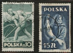 Poland Scott 414-415 Used 1947 short set