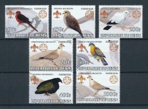 [105348] Benin private issue 2002 Birds vögel oiseaux doves  MNH