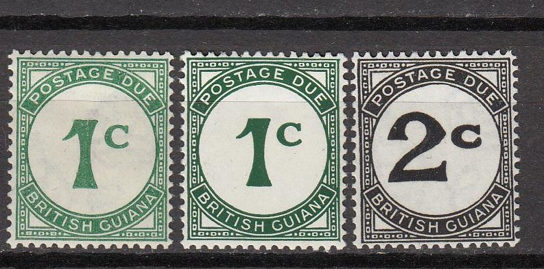 British Guiana - 1940/52 Postage Due small st-lot - MH/MLN  2c-MNH (80)