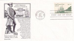 1978, Capt. James Cook, Aristocrat Cachets, FDC (E12205)