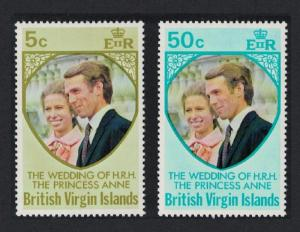 BVI Royal Wedding Princess Anne 2v SG#301-302