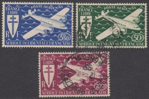 French West Africa C1-C3 MH/Used CV $4.90