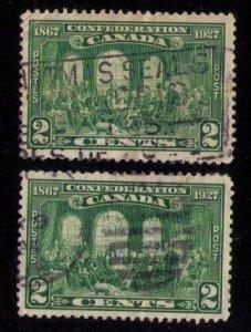 Canada Sc 142 x 2 Ea Used Centering VF