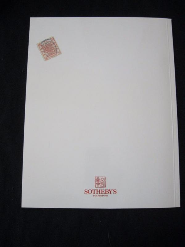 Publications Sothebys Auction Catalogue 1996 Postage Stamps Of The Far East Stamps
