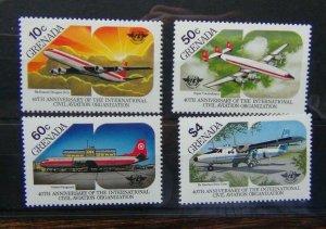 Grenada 1985 40th Anniversary of International Civil Aviation Organisation MNH
