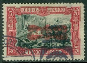 MEXICO : 1916. Scott #527 Very Fine, Used. Backstamped. Pinpoint thin. Cat $175.