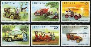 Liberia 1973, Antique Cars, Automobiles, Set 6v MNH