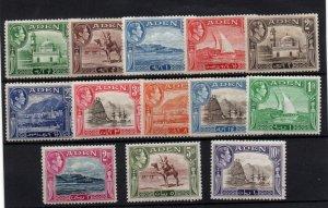 Aden 1939 KGV mint LHM set SG16-27 WS22183