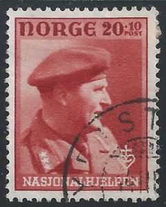 Norway #B45 20o + 10o Crown Prince Olav