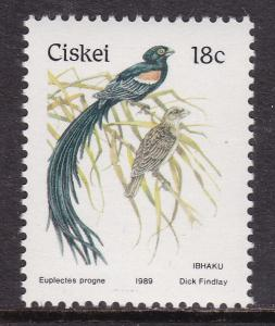 Ciskei, Fauna, Birds MNH / 1989
