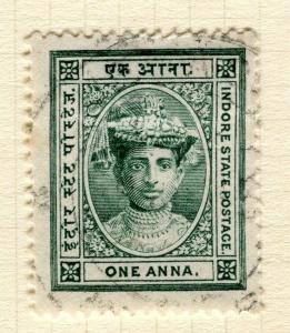 INDIA;   INDORE 1904 early Holkar III issue fine used 1a. value