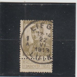 Belgium  Scott#  96  Used  (1912 King Albert)