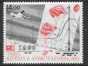 FRENCH SOUTHERN & ANTARCTIC TERRITORIES SG218 1986 SCIENTIFIC RESEARCH  MNH