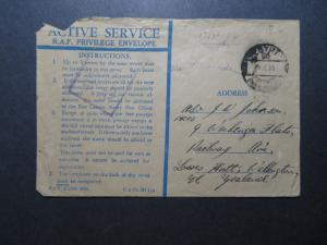 Egypt 1944 Active Service Cover to New Zealand  - Z11553