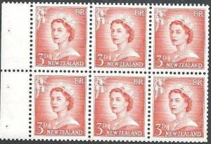 NEW ZEALAND 1955 3d large figures. booklet panes upright wmk MNH...........63997