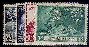 LEEWARD ISLANDS GVI SG119-122, ANNIVERSARY OF UPU set, FINE USED. Cat £11.